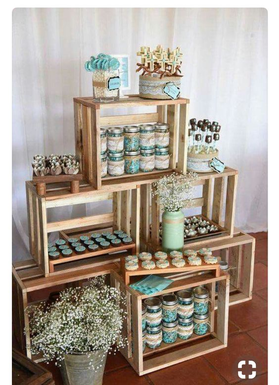 Dessert Table made from Crates