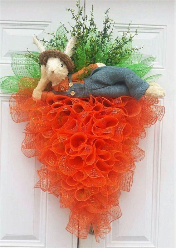 Deco Mesh Carrot