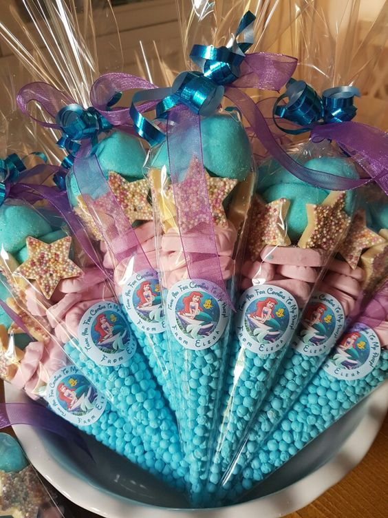 Ariel Themed Sweet Cones