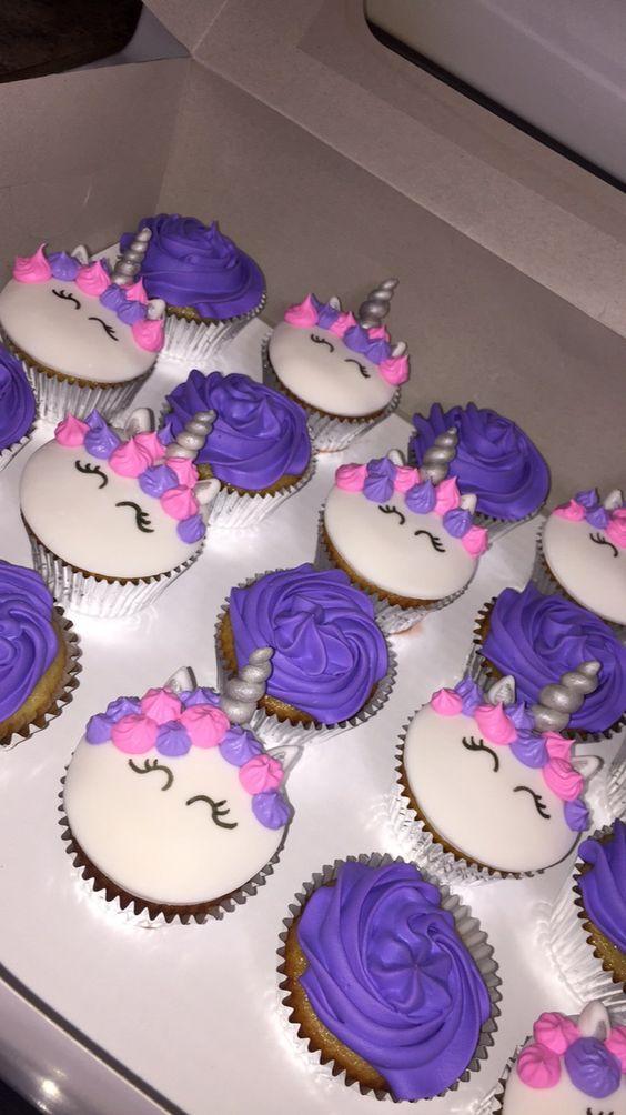 Pink & Purple Unicorn Cupcakes