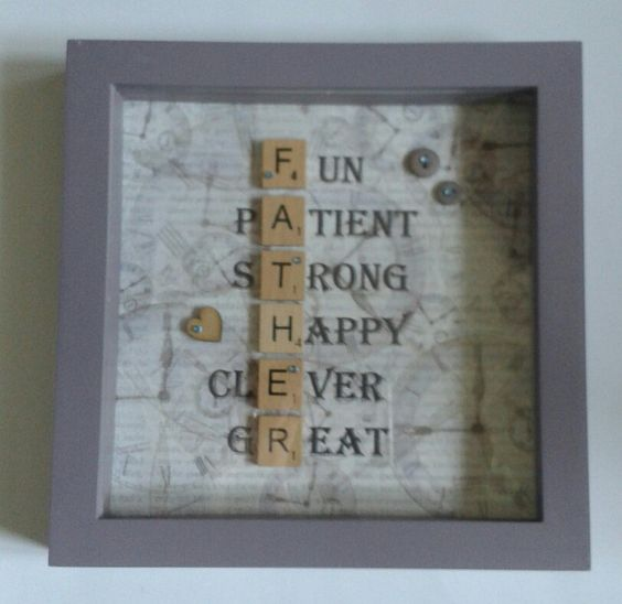 Scrabble Art Fathers Day frame