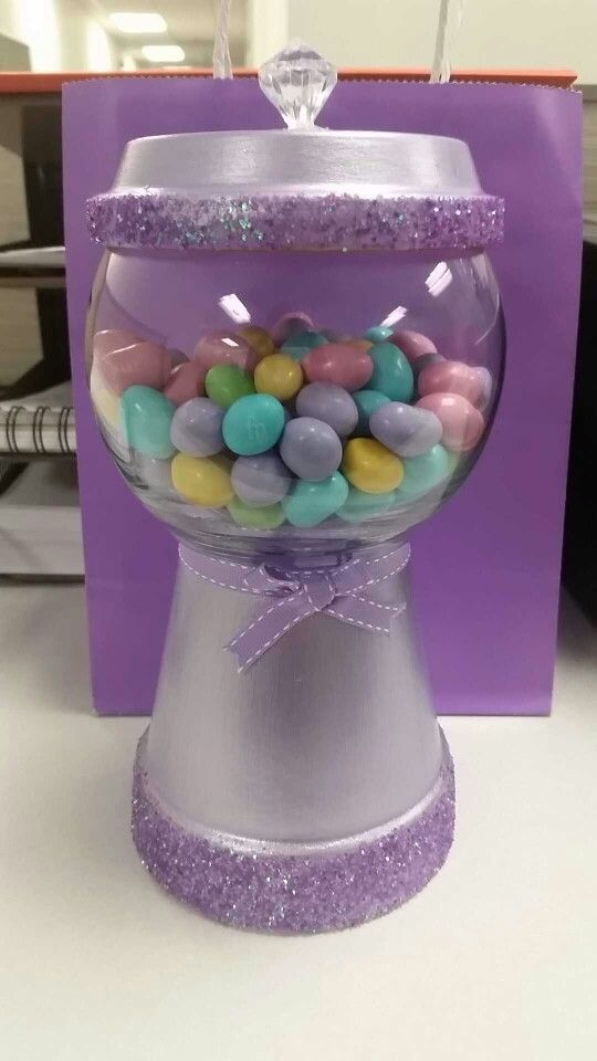 Clay Pot Crafts Easter Gumball Machine