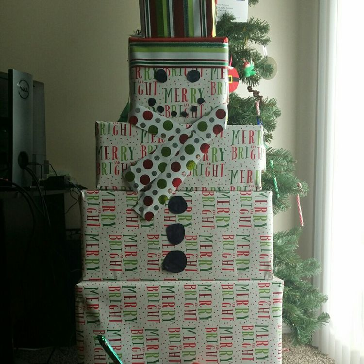 Snowman Gift Tower Ideas Craft And Beauty