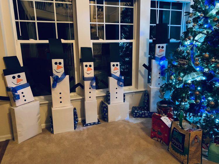Snowman Gift Tower Ideas